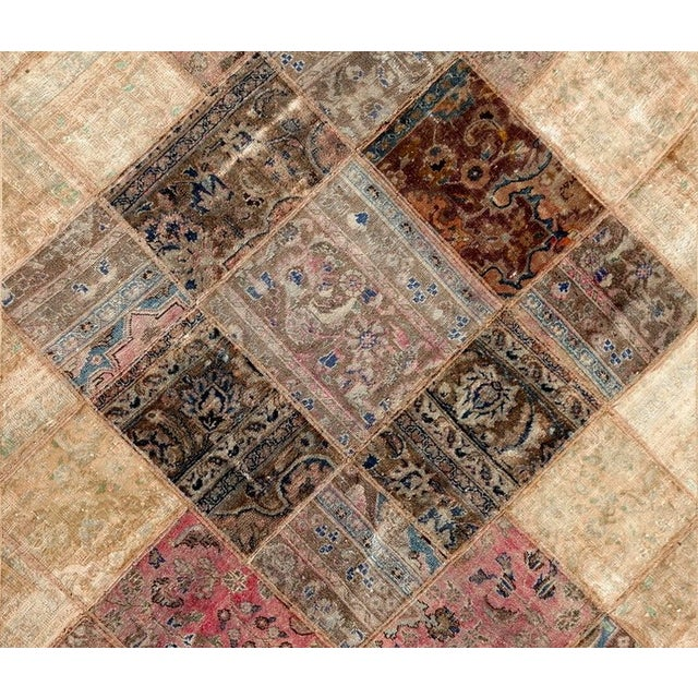Hand Knotted Patchwork Rug - 4′10″ × 7′8″ - Image 2 of 2