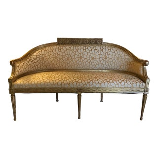 19th Century Vintage Italian Gilt Wood Settee For Sale