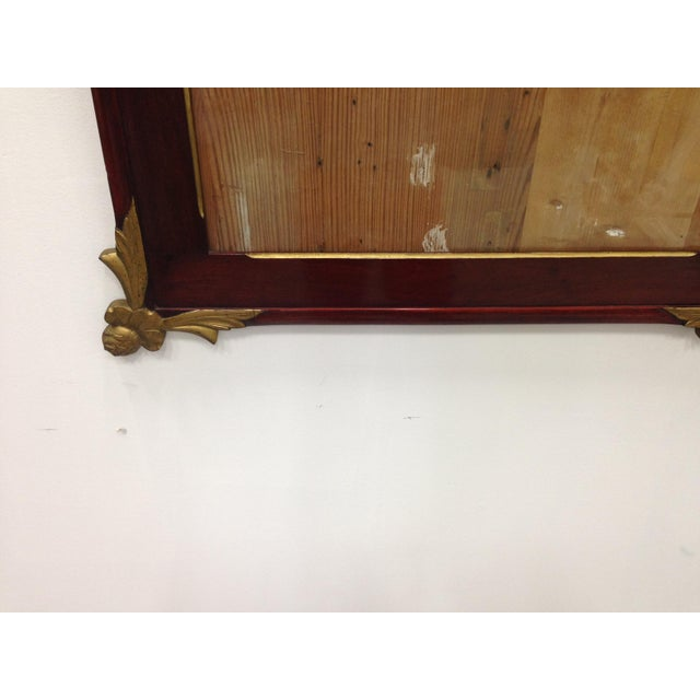 19th Empire Style Rectangular Frame with Bronze Mounts in the Corners - Image 6 of 7