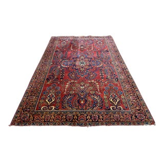 Early 20th Century Antique Persian Sarouk Rug - 4′3″ × 6′6″ For Sale