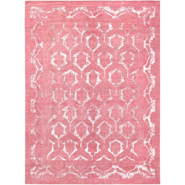 """Pasargad Overdye Wool Area Rug - 8'8"""" X 11'11"""" For Sale"""