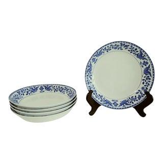 "Vintage Mid 20th Century Nippon ""Royal Sometuke"" Dessert/Berry Bowls - Set of 5 For Sale"