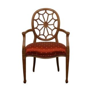 20th Century Traditional Ethan Allen Spiderweb Back Accent Arm Chair