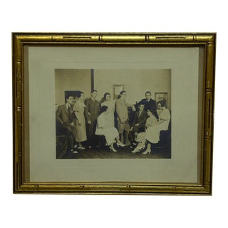 "Vintage ""Family Gathering"" Framed Black & White Photograph For Sale"