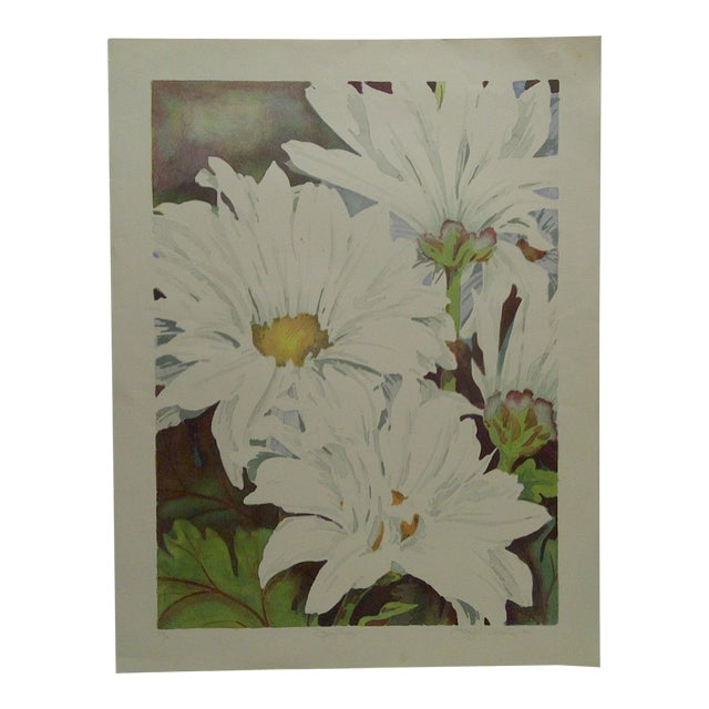 """Limited Edition """"Daisy Mums"""" Signed Numbered (72/100) Print by Bukonik For Sale"""