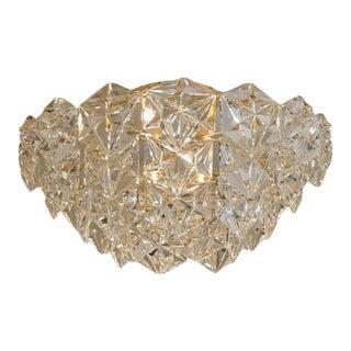 """Kinkeldey """"Royal"""" Crystal and Gold-Plate Flushmount Chandelier For Sale"""