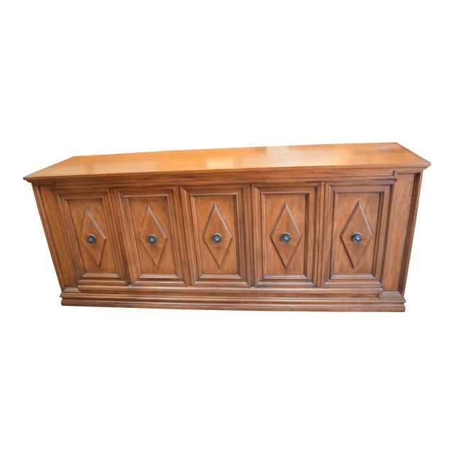 Late 19th Century Vintage Mount Airy Furniture Five Doors Credenza Cabinet For Sale