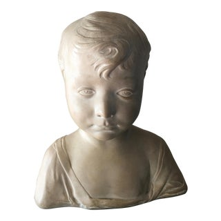 Antique Portrait Bust of a Child For Sale