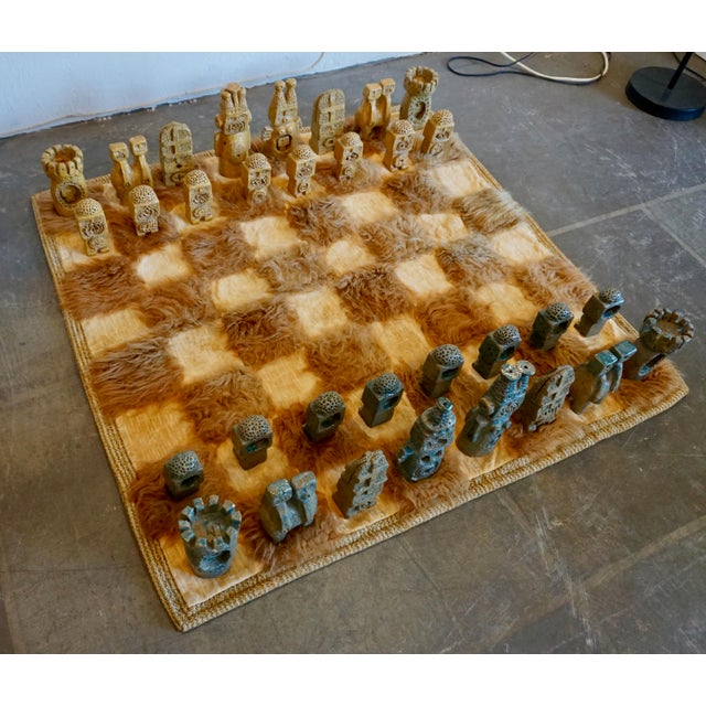 Oversized Ceramic Chess Set For Sale - Image 10 of 11