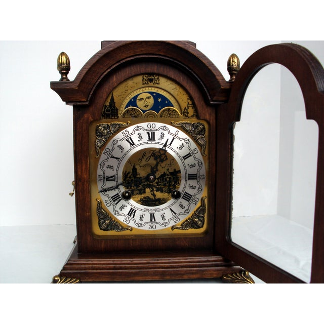 Traditional Vintage Franz Hermle Mantle Clock For Sale - Image 3 of 7