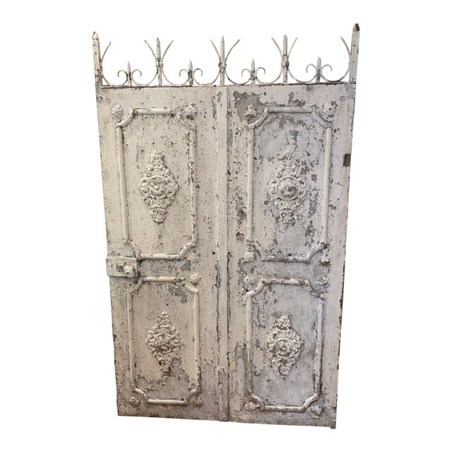 1880s Vintage French Decorative Garden Gate For Sale
