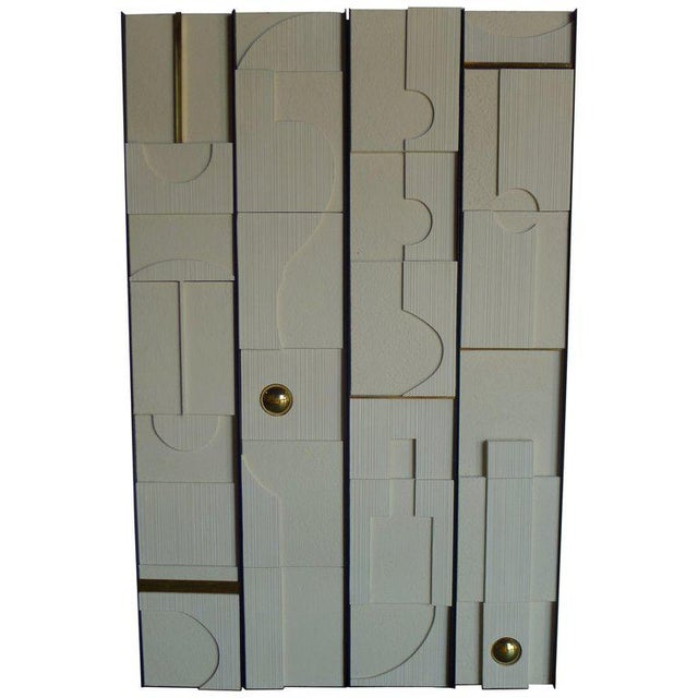 White Art Wall Frieze Panels by Paul Marra - Set of 4 For Sale - Image 8 of 9