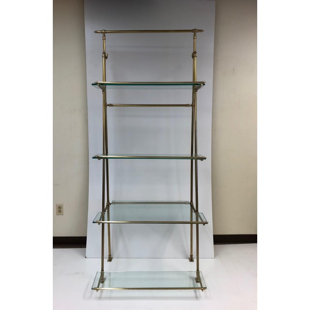 French 1950s French Bronze Wall Mounted and Freestanding Etagere For Sale - Image 3 of 8