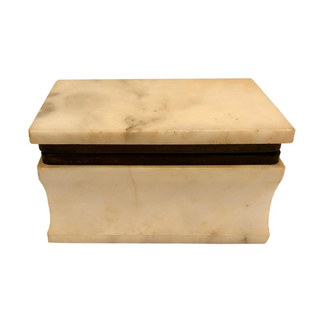 Stone 1940s Italian Marble Box For Sale - Image 7 of 8