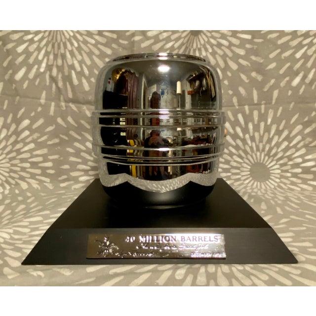 Metal 1970s Vintage 40 Million Barrels Anheuser Busch Breweriana Trophy For Sale - Image 7 of 7