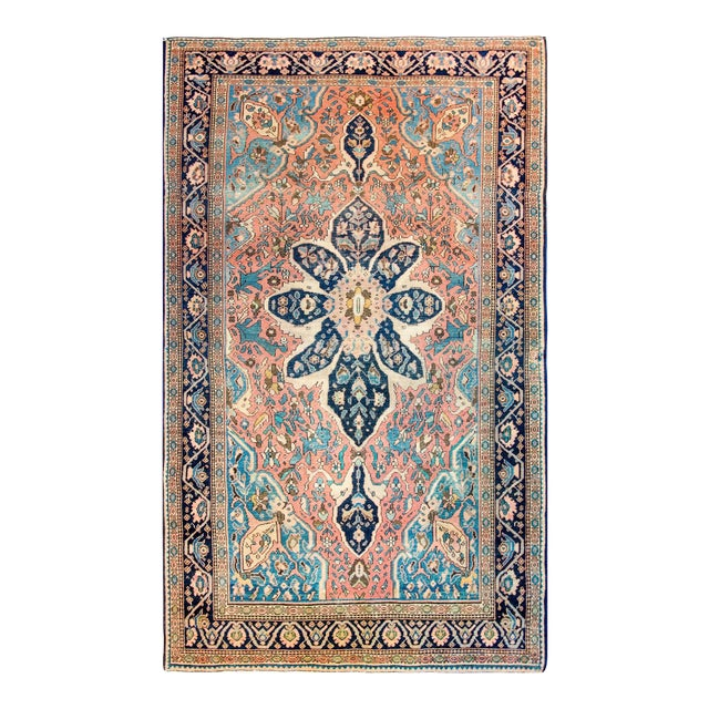 Exquisite Late 19th Century Sarouk Farahan Rug For Sale