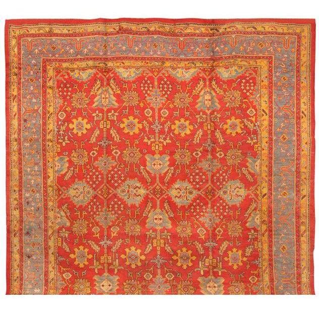 Antique 19th Century Turkish Oushak Carpet - Image 1 of 1