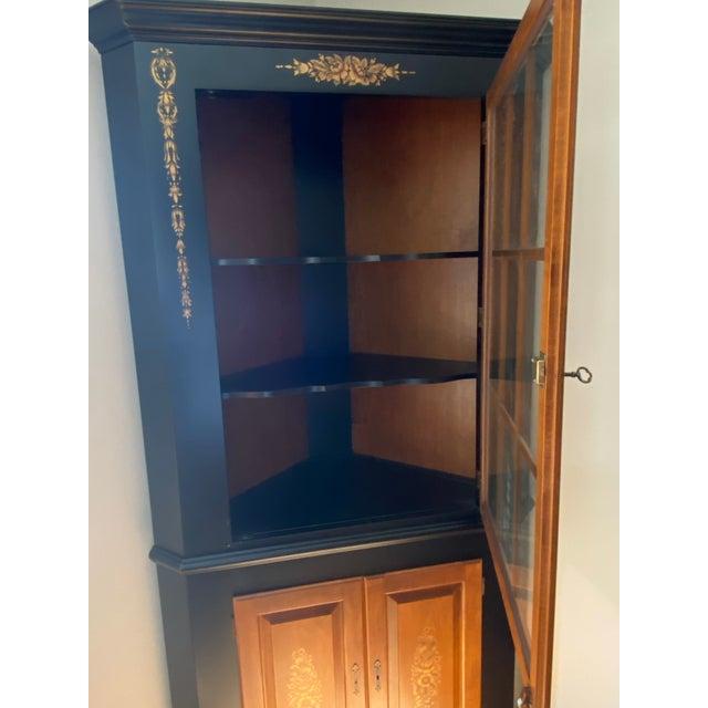 Black/Harvest Newington Hitchcock Lighted Corner Cabinet For Sale In New York - Image 6 of 13