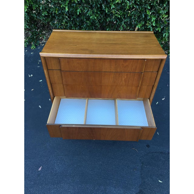 Mid Century Modern High Boy Dresser Chest of Drawers Parallel Collection by Barney Flagg for Drexel For Sale - Image 10 of 12