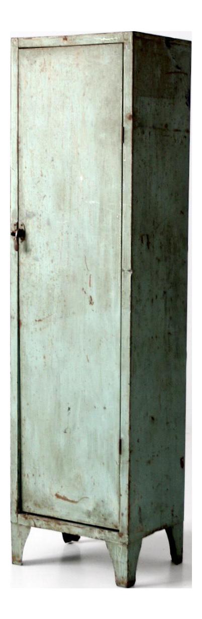 Vintage Green Metal Locker Cabinet