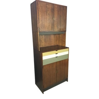 Mid Century Custom Wall Unit with Painted Drawers