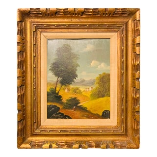 Late 19th Century Antique Altman Oil on Board Painting For Sale