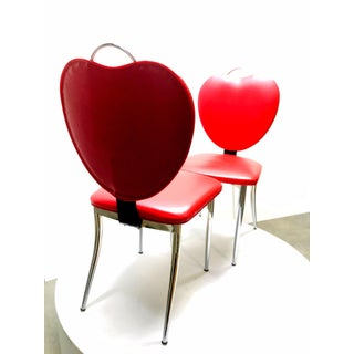 Mid Century Heart Shaped Diner Chairs- a Pair Preview