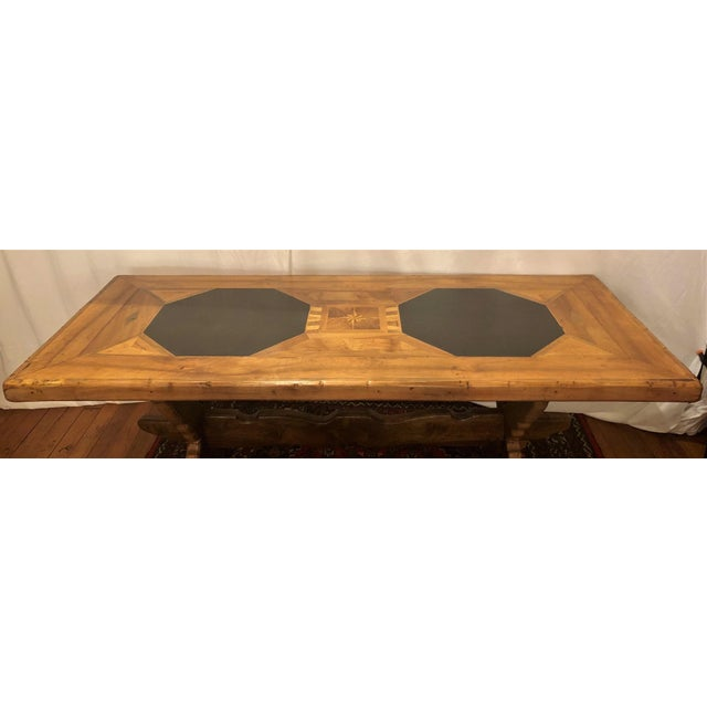 French Antique French Provincial Farm Table From Pyrenees Woodlands, Circa 1910-1920. For Sale - Image 3 of 6
