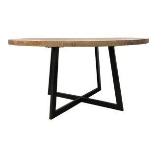 Industrial Modern Cerused Oak Finished Caspian Dining Table For Sale