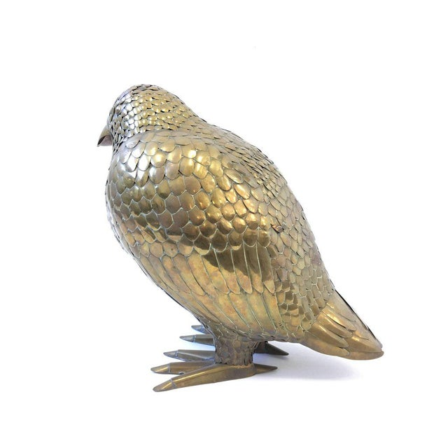 Brass Large Brass Bird Sculpture by Sergio Bustamante For Sale - Image 7 of 8