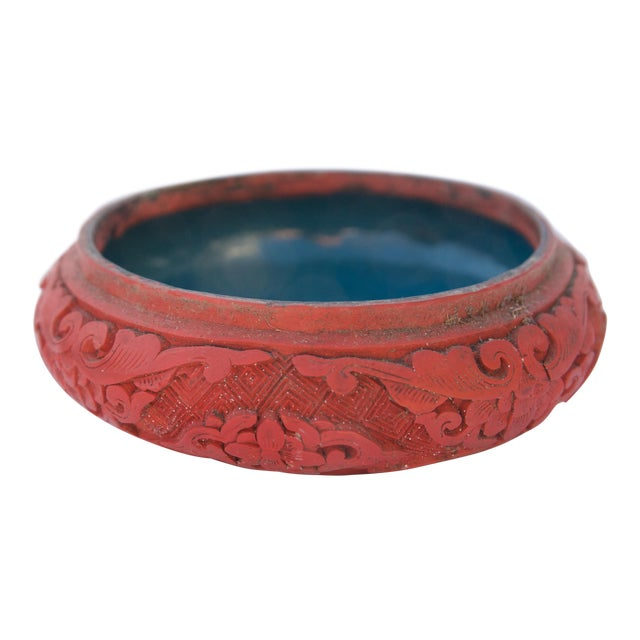 Antique Asian Cinnabar Bowl For Sale