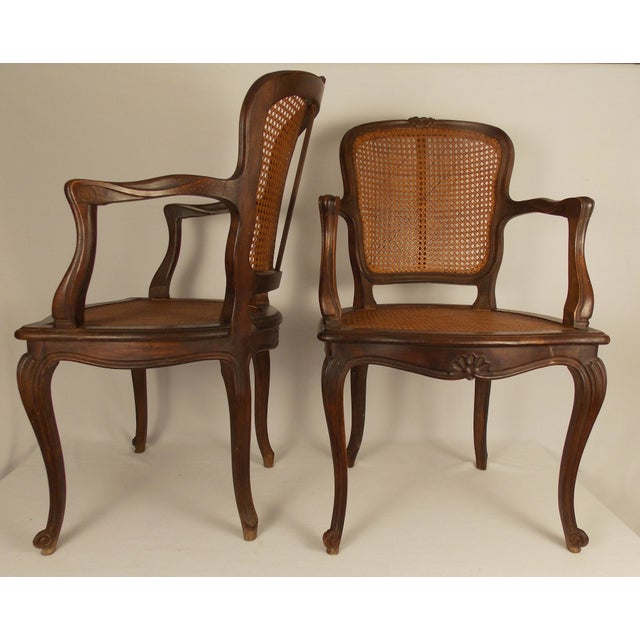 Louis XV Style Caned Chairs - A Pair - Image 2 of 6