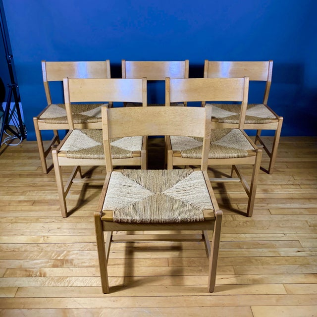 1960s Vintage Børge Mogensen Bm2 Oak & Papercord Dining Chairs- Set of6 For Sale - Image 13 of 13