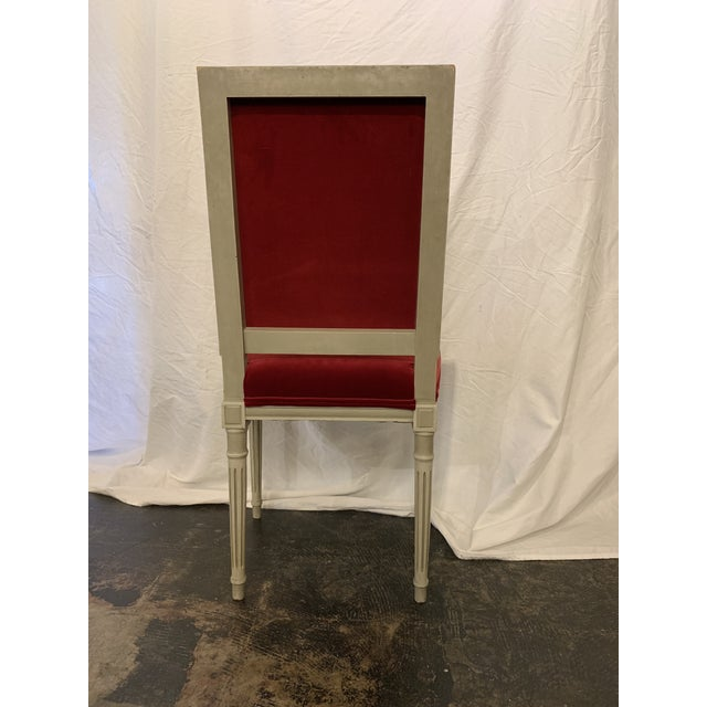 1900s Louis XVI Style Dining Chairs Set of 4 For Sale - Image 5 of 6
