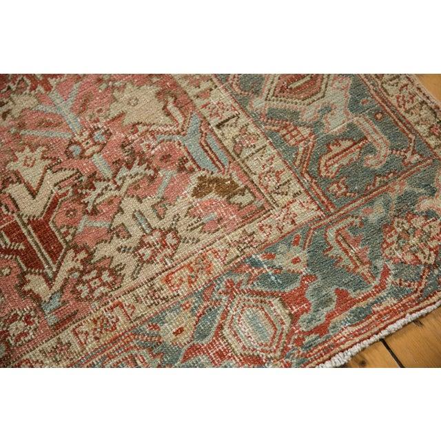 """Vintage Distressed Heriz Carpet - 6'8"""" X 9'6"""" For Sale - Image 11 of 13"""