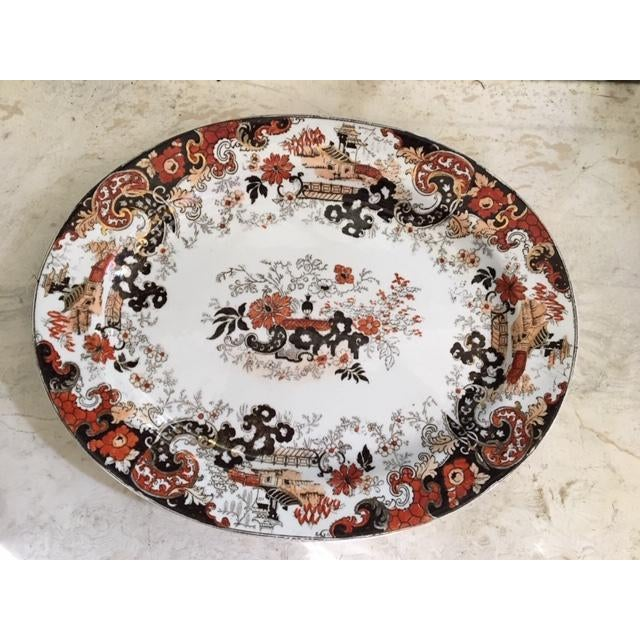 Late 19th Century Ridgway Stoke on Trent Chinese Japan Pattern Platter For Sale - Image 9 of 9