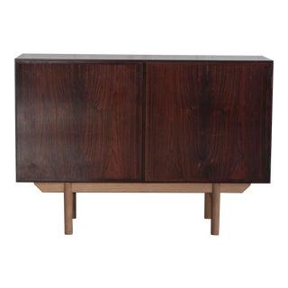 1960's Vintage Gunni Omann Danish Rosewood & Oak Cabinet For Sale