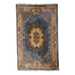 "Vintage Art Deco Chinese Rug - 5'4"" X 7'8"" For Sale"