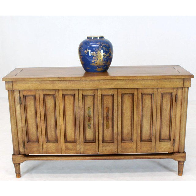 Mid-Century Modern Mid-Century Modern Petit Fruitwood Credenza With Double Accordion Doors For Sale - Image 3 of 11