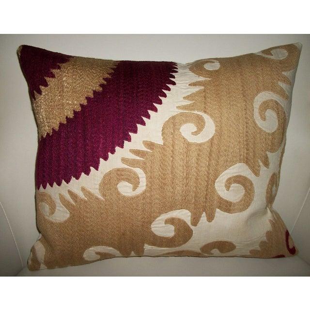 Vintage Gulkurpa Suzani Pillow - Image 2 of 2