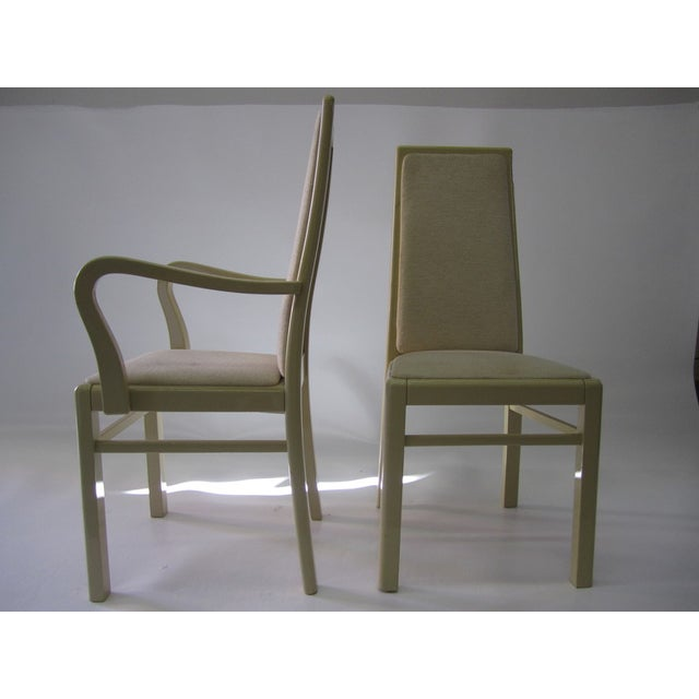 Italian Eggshell Lacquer Dining Chairs Set Of 12 Image 6