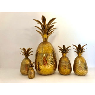 Vintage Brass Pineapple Jars - Set of 5 Preview