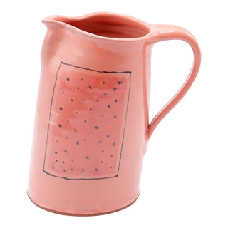 Hand Thrown Ceramic Watermelon Pitcher For Sale