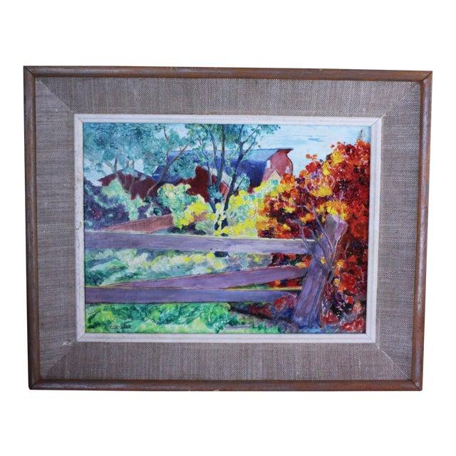 """Burning Bush"" Oil Painting by Ede-Else For Sale"