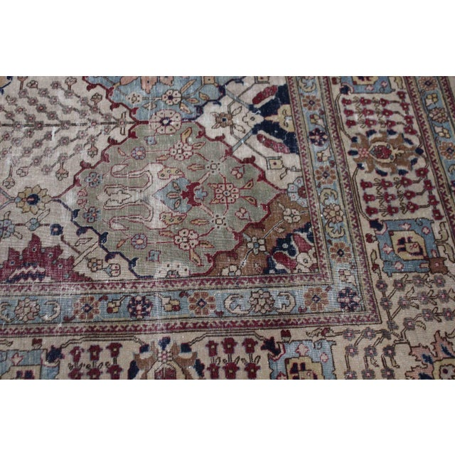 """Late 19th Century Vintage Persian Tabriz Rug-11'10'x9'6"""" For Sale - Image 5 of 6"""