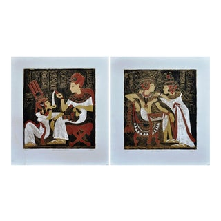 L. Sacco Egyptian Themed Serigraphs - a Pair For Sale