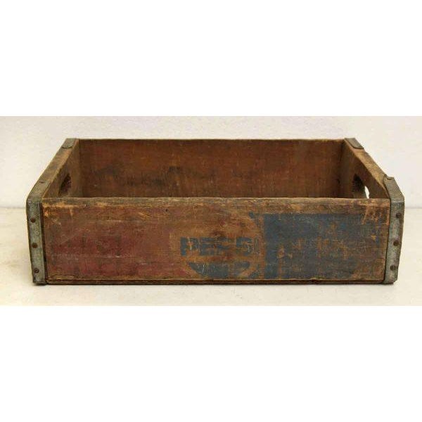 Worn Vintage Wooden Pepsi Crate For Sale - Image 5 of 10