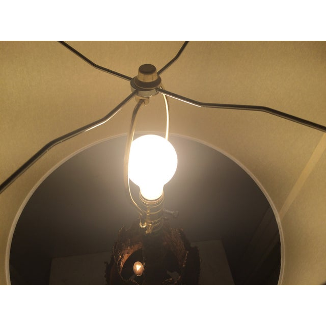 Brown Brutalist Table Lamp by Tom Green for Feldman For Sale - Image 8 of 9