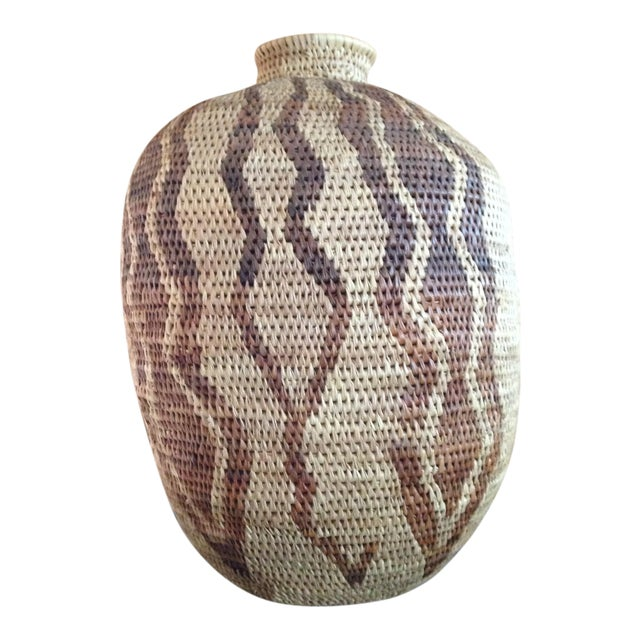 African Handmade Tribal Basket For Sale