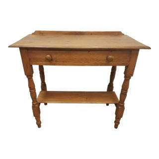 Antique English Pine Entry Table For Sale